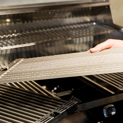 SABER grills use a patented cooking system to deliver infrared heat while only using 30% less fuel every time you grill.