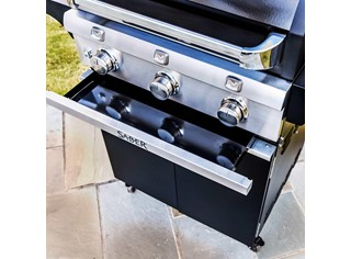 SABER 3-Burner Cast Black