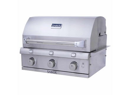 SABER 3-Burner Stainless Steel Built-In