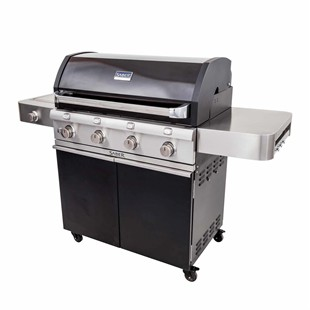 Deluxe Black 4-Burner Gas Grill